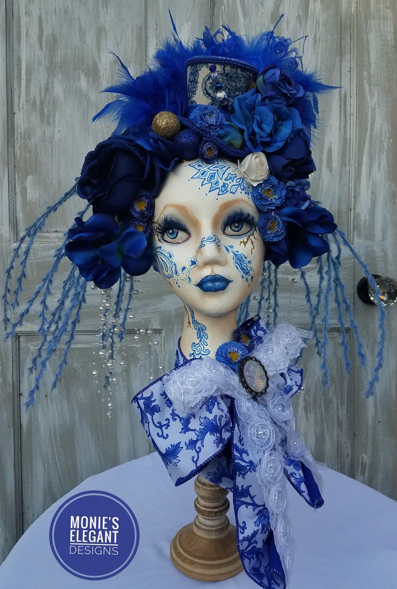 Mannequin Head Display Chinoiserie Mannequin Chinoiserie image 0
