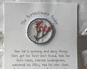 Hand Embroidered Patch ~The Bittersweet Badge~ Merit Badge Patch