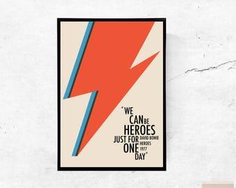 Héros, David Bowie - format A3/A4