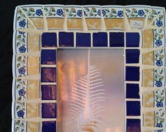 unique and original dishes mosaic photo frame