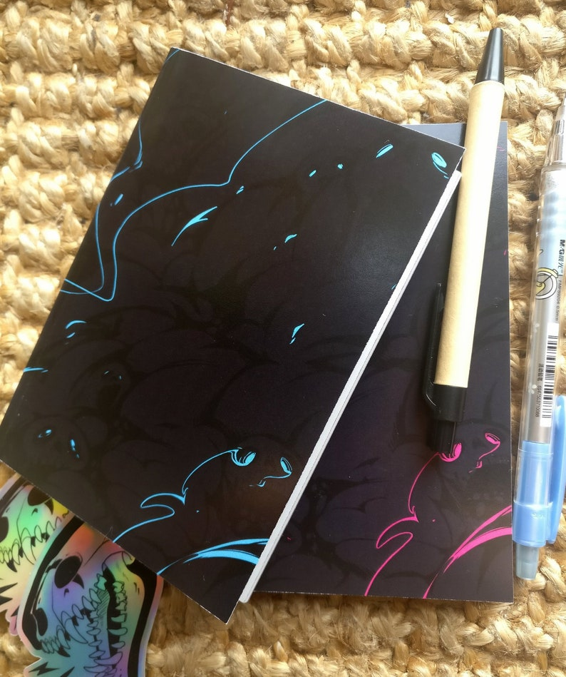 b3bffea4fdcb A6 Skulls and Smoke Notebook | Gothic Sketchbook