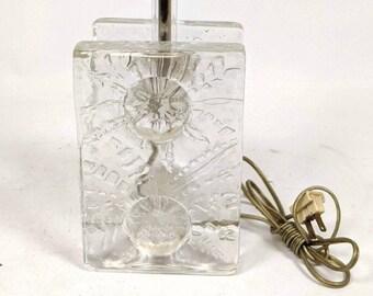 Pukeber Sweden Thick Art Glass Table Lamp