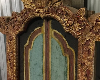 Vintage Hand Carved/Painted Balinese Door - Pickup Only and Delivery to Selected Cities