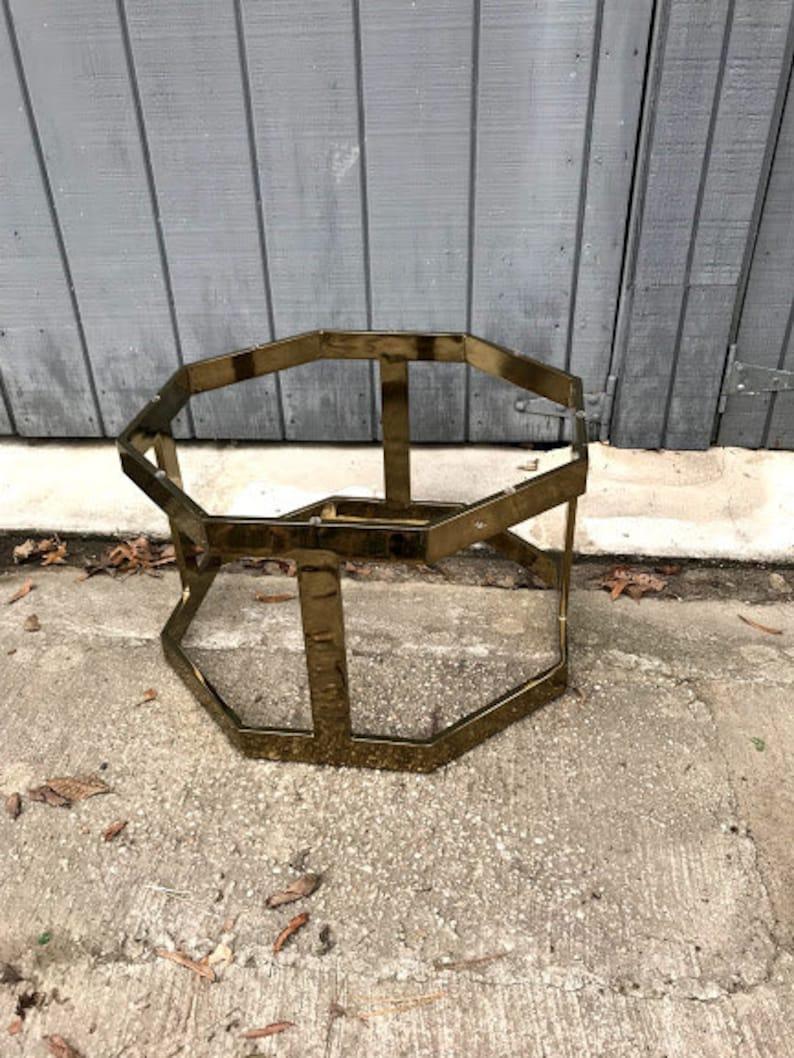 Vintage Octagonal Brass Coffee Table