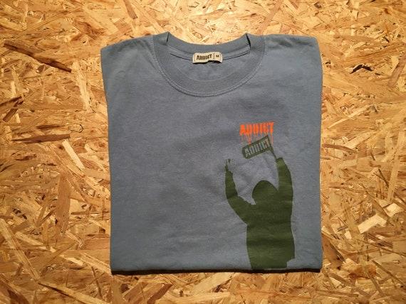 Vintage Addict Stencil Graphic T-Shirt