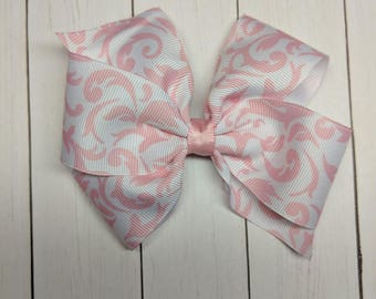 light pink Damask bow