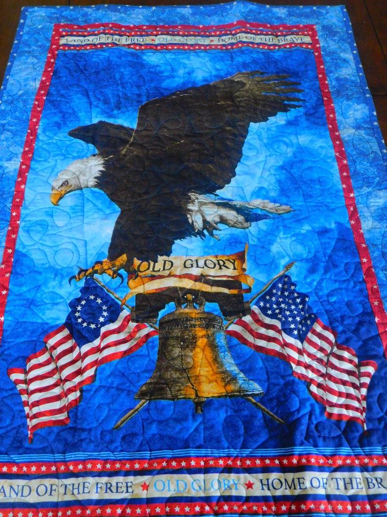 Americana Old Glory  Lap Quilt