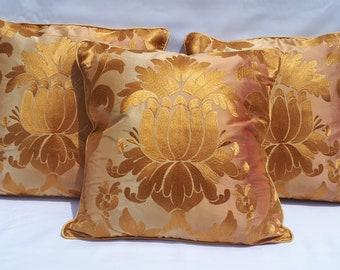 Luxurious handmade silk cushion