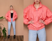 90s Pastel Pink Silky Bomber Jacket Quilted Puffer Jacket Zip Up 1990 39 s Windbreaker Dolman Sleeve Spring Coat Lightweight Jacket