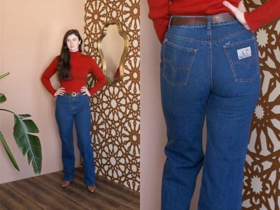 Vintage 70s Levis Denim Jeans // High Waisted Boot