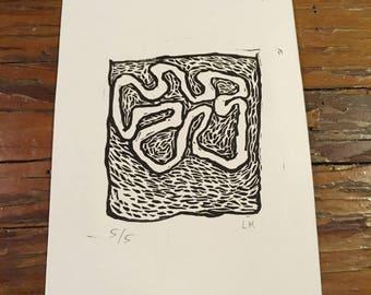 Linocut - Abstract design I