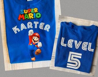 Super Mario Brothers Custom T-shirt Personalize tshirt Birthday gift Tee Bros