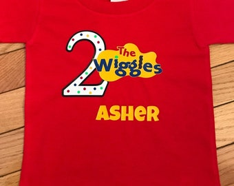 978d37ae The Wiggles shirt, wiggles shirt, birthday shirt Wiggles, custom birthday  shirt, kids wiggles shirt
