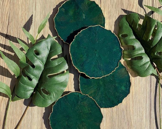 Green Agate Coasters
