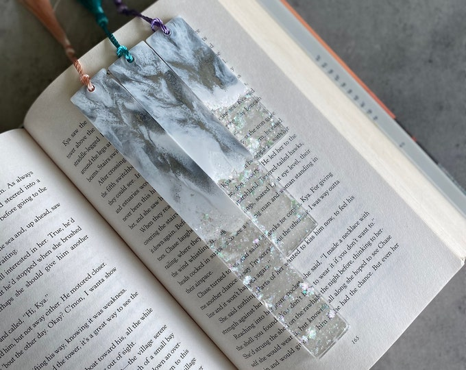 White and Silver Bookmark
