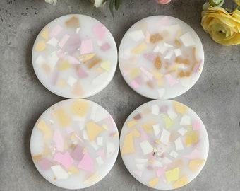 Matte Doo Wop Terrazzo Resin Coasters