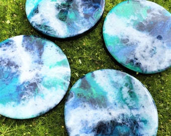 Round Resin Art Coasters