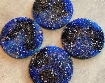 Lapis Coasters: Resin Coaster Set