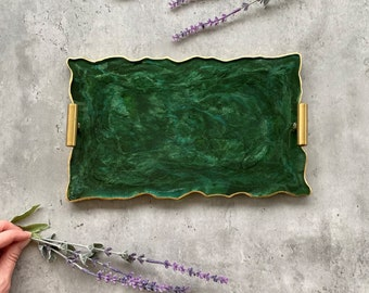 Green Agate Tray