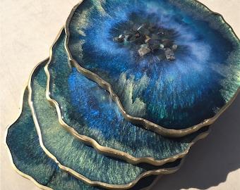 Abalone Ocean Agate Coasters