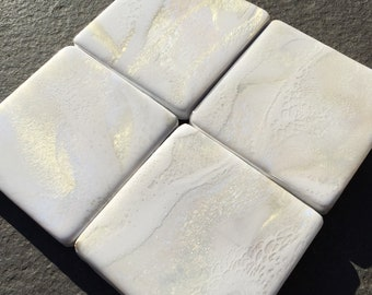 White Square Coasters