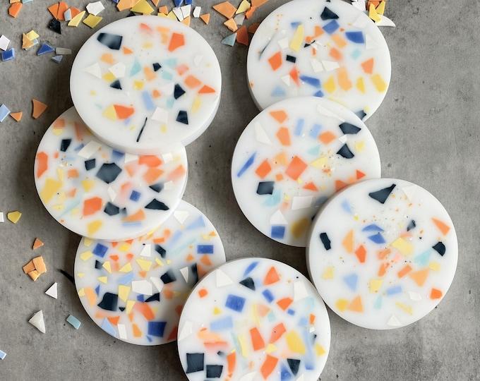 Prep School Terrazzo Resin Coasters