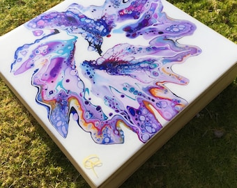 Fluid Acrylic Painting Print on Cradled Wood Board: Rachel