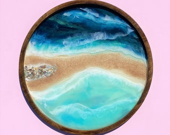 Ocean Painting; Resin Ocean Painting; 24 Inch Painting
