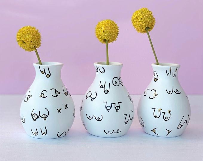 Bud Vase; Boob Vase; Mini Vase