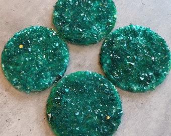 Emerald Coasters: Resin Coaster Set