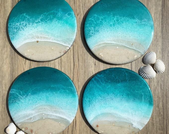 Ocean Painting; Resin Ocean Painting; 9 Inch Painting