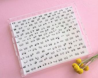 Boob Tray; 15 inch Tray; Clear Tray