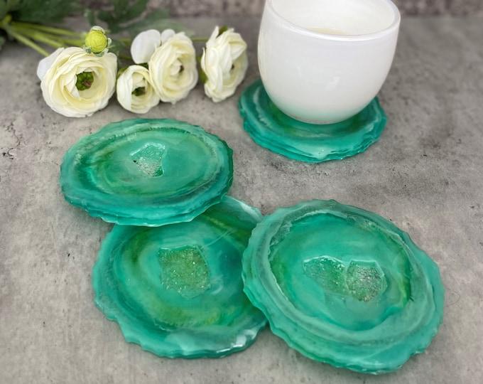 Jade Geode Coasters