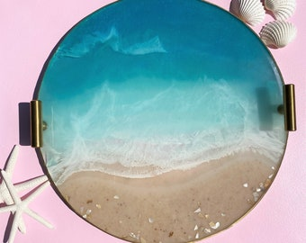 Round Ocean Beach Tray: 11 inches