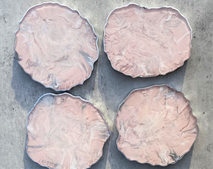 Pink Marble Coasters