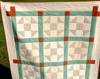 """One-Of-A-Kind, Homemade """"Vintner's Shoo Fly Delight"""" Quilt For Sale!   Ready to ship!!!"""
