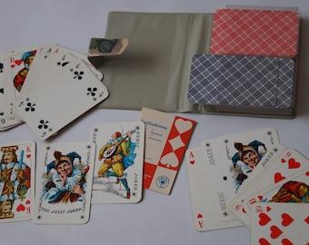 Vintage Playing Card Set, Transport 1950s Playing Card Set