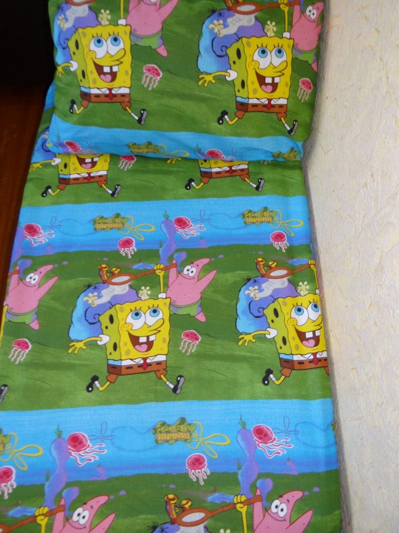 8231e06b6ebb90 SpongeBob flat sheet SquarePants cartoon bed set flat crib   Etsy