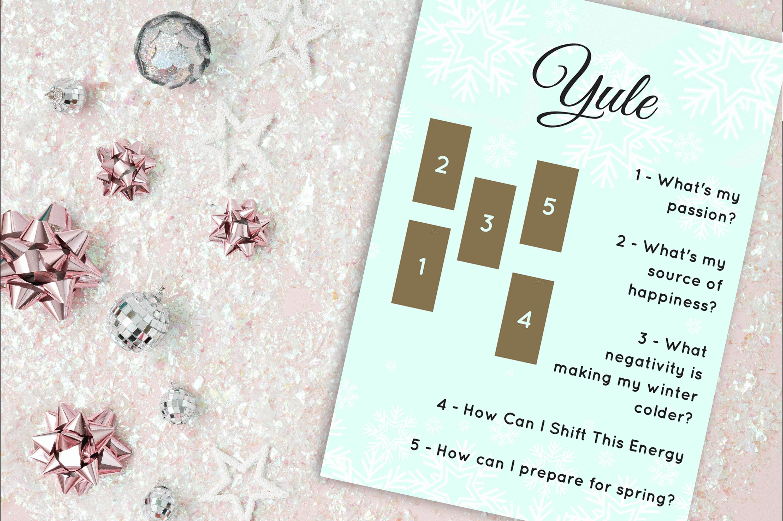 Printable Tarot Card Spread for Christmas Pagan Yule Tarot   Etsy