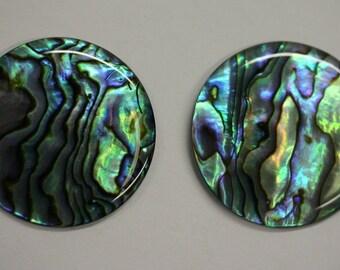R1597 Natural Abalone Paua Shell cabochons,29X22mm,26.20.cts,..
