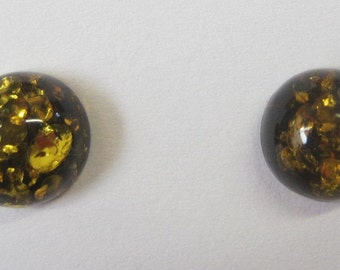 2pcs 8mm Natural Green Amber Round Cabochon High Quality Gemstones Jewelry