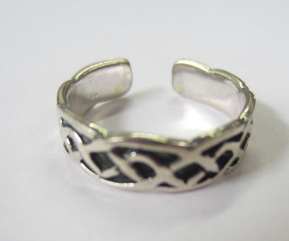 Buy For Less Oxidized 925 Sterling Silver Bali Design Ring