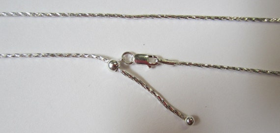 Sterling Silver Necklace SNAKE Chain Diamond Cut 1.1mm