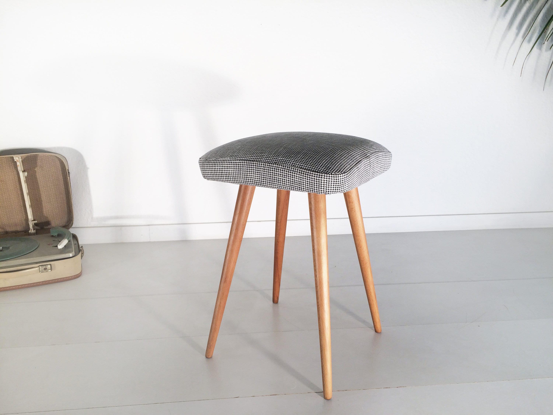 original 50s stool, *nELLY* , MID CENTURY. Vintage. Rockabilly. 50th vintage. stool. Sixties. Wood. 1950. UNIQUE