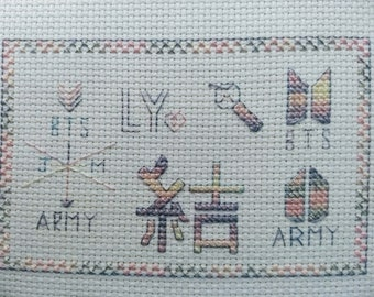 BTS Love Yourself: Answer Cross Stitch Sampler Pattern