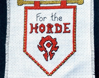 For the Horde! - A World of Warcraft inspired cross-stitch pattern