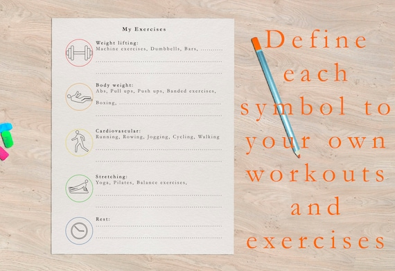 FITNESS planner undated - printable PDF download