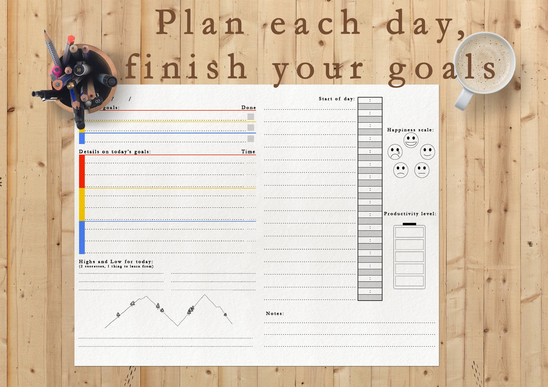 image about Full Focus Planner Pdf called Reason planner undated - printable PDF obtain