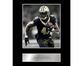 acb197949ff86 Alvin Kamara 10x8 Mounted Signed Photo Print New Orleans Saints NFL