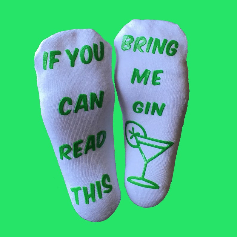 Perfect Gift Idea BRING ME GIN Socks Luxury Combed Cotton